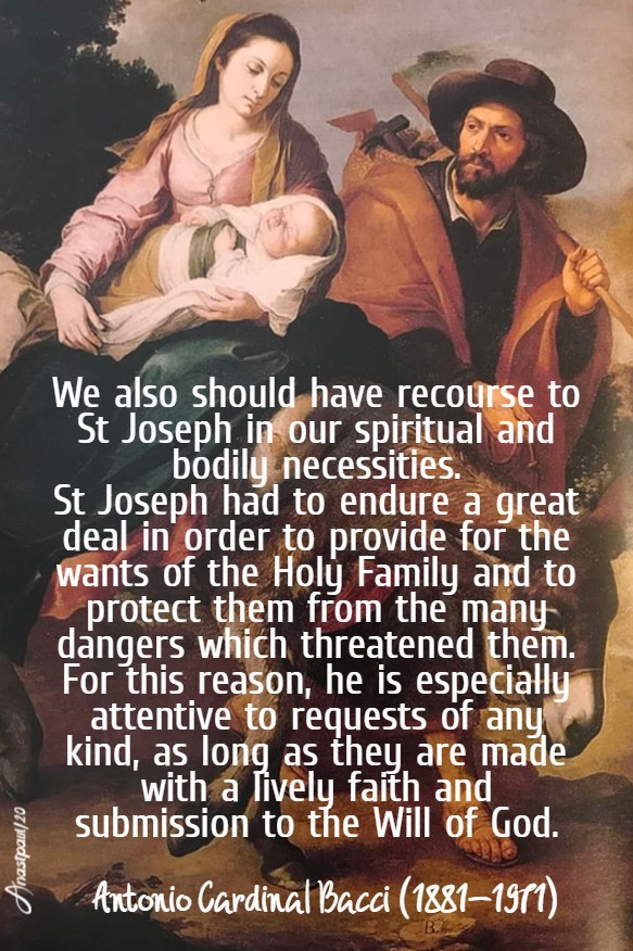 we also should have recourse to st joseph bacci 20 march 2020