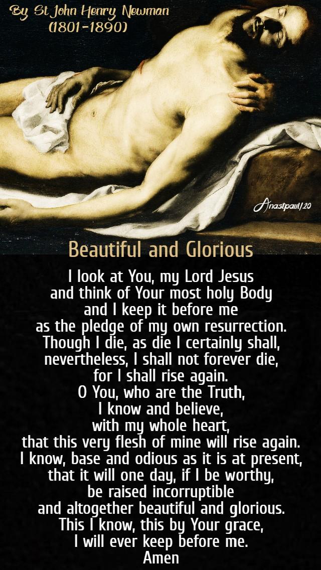 beautiful and glorious - bl john henry newman - holy sat 10 april 2020