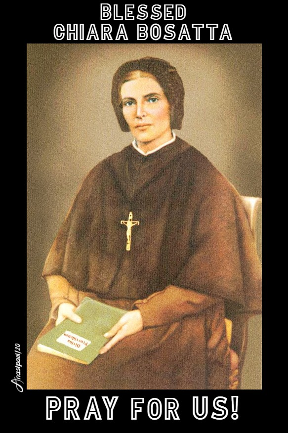 bl chiara bosatta pray for us 20 april 2020