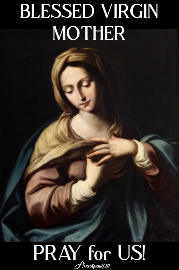blessed virgin mother pray for us 17 april 2020