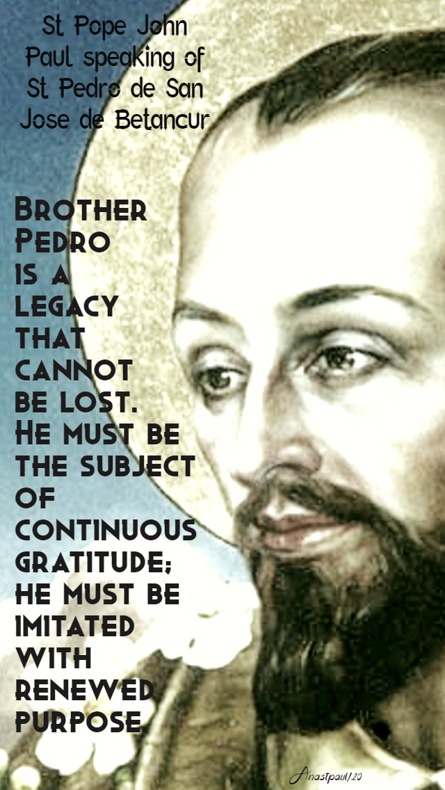 brother pedro - st john paul 25 april 2020
