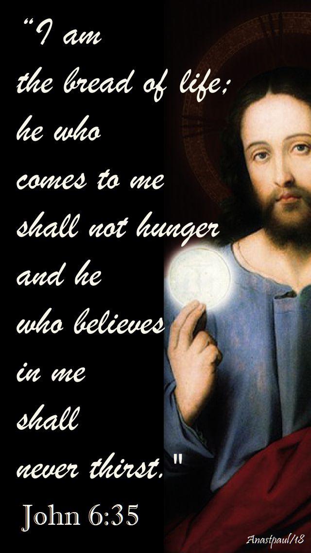 i am the bread of life - john 6 35 - 5 aug 2018