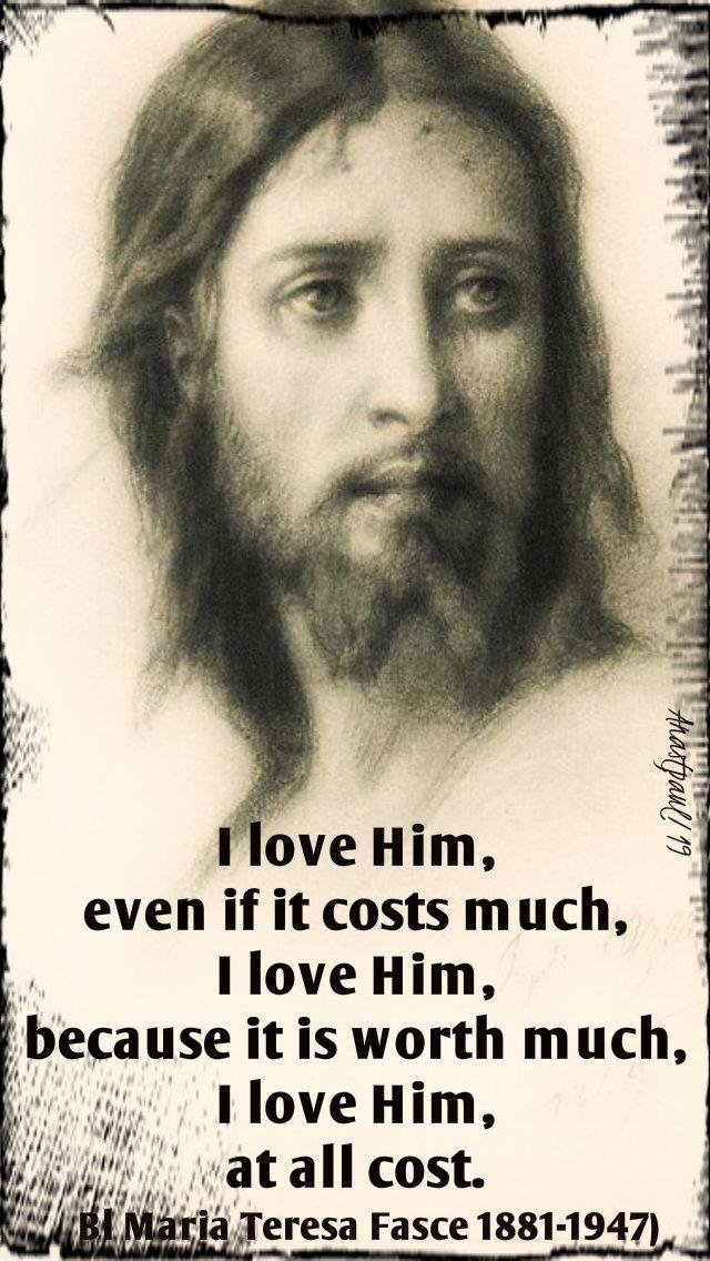 i-love-him-bl-maria-teresa-fasce-18-jan-2019-and-2020 and 9 april 2020 maundy holy thursday