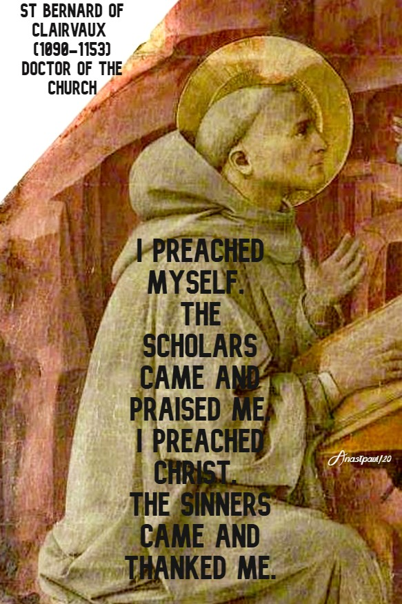 i preached myself the scholars came ...i preached Christ - 18 april 2020