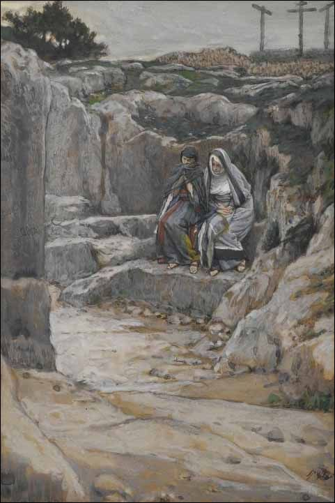 james tissot - 2 marys watch at the tomb
