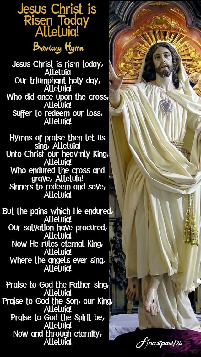 jesus christ is risen today alleluia 12 april 2020
