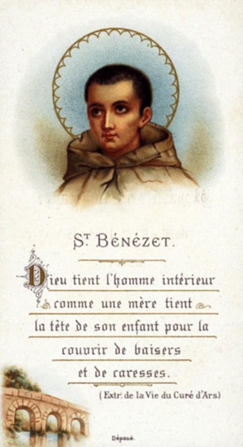 st-benezet holy card