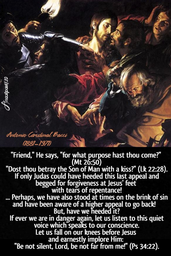 the betrayal of judas - bacci 9 april 2020 maundy thursday holy