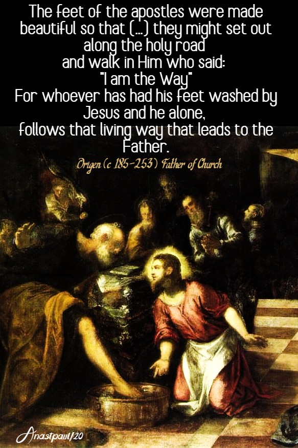 the feet of the apostles were made beautiful -origen 9 april 2020