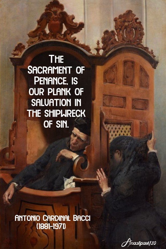 the sacrament of penance is our plank of salvation in the shipwreck of sin - bacci 29 april 2020