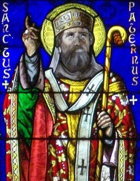 Vannes_-_cathédrale,_vitrail_des_saints_Patern_et_Mériadec_Detail_Padarn