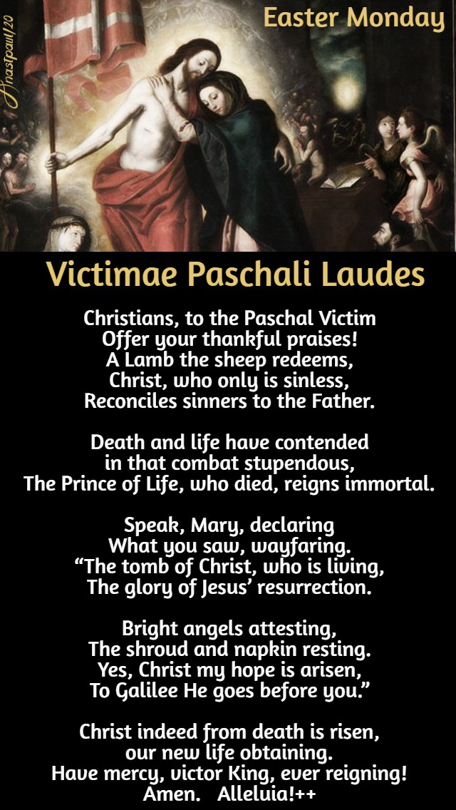 victimae paschali laudes no 2 easter monday 13 april 2020