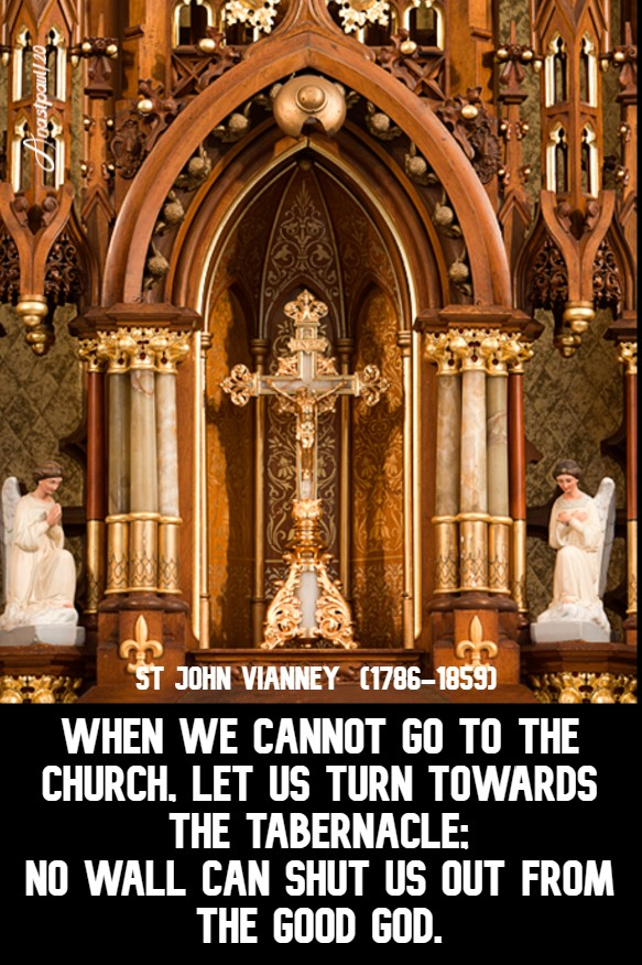 when we cannot go to the church let us turn -no wall - st john vianney 26 april 2020 3 easter