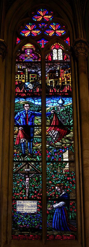 369px-bl franz window glass Wien_-_Votivkirche_-_Jägerstätter-Fenster