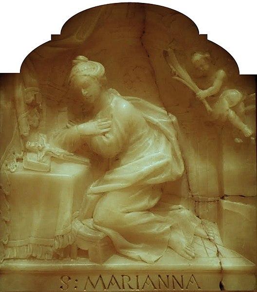 528px-Fesinger_Saint_Mary_Ann_de_Paredes footer statue