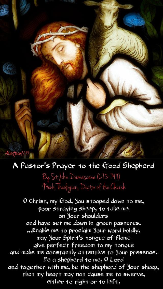 a pastor's prayer to the good shepherd - st john damascene 13 may 2019