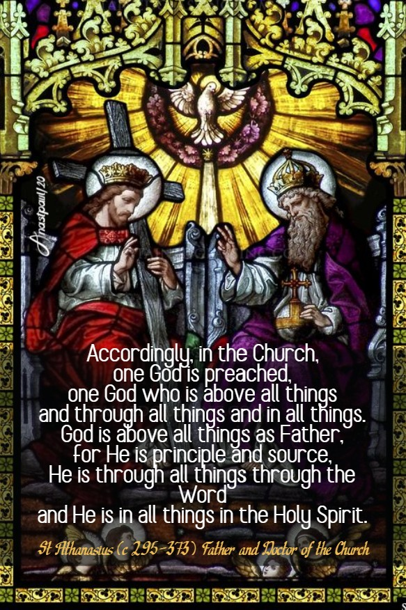 accordingly in the church one god is preached - st athanasius 31 may 2020 pentecost