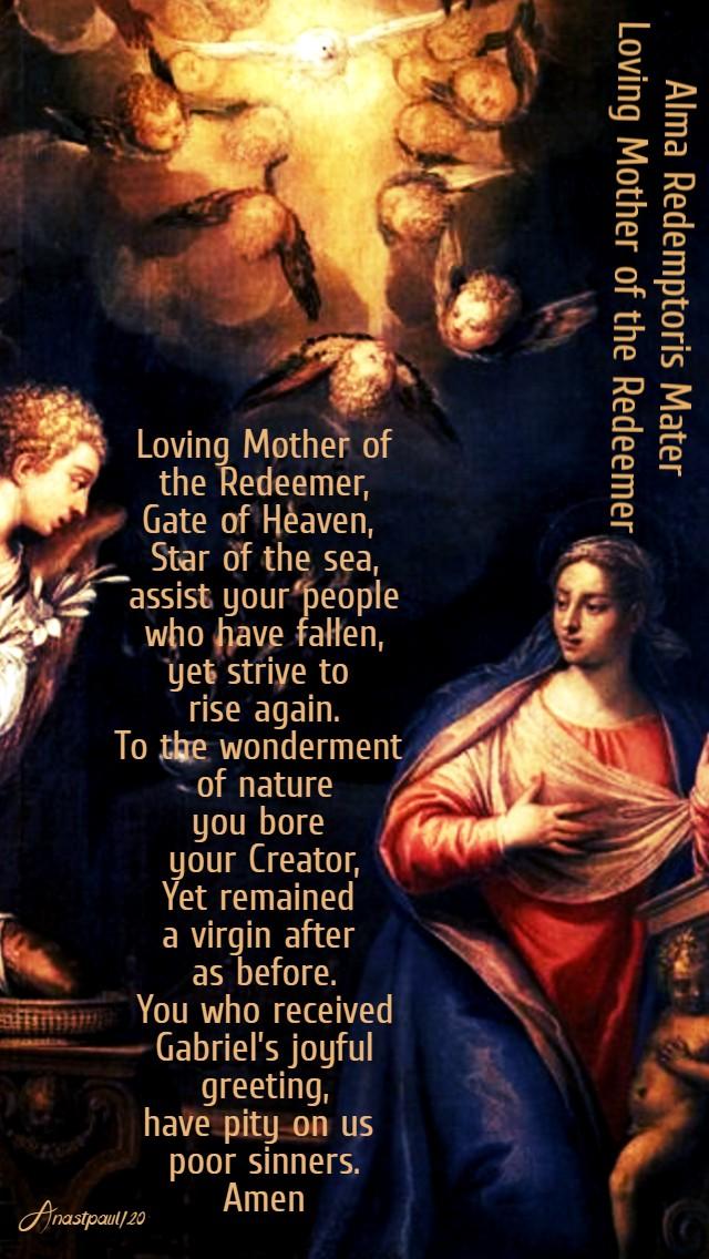 alma redemptoris mater - 22 may 2020