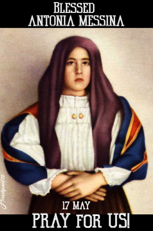 blessed antonia messina pray for us 17 may 2020