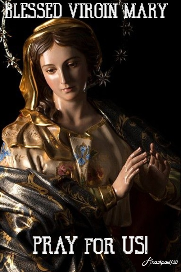 BLESSED VIRGIN MARY PRAY FOR US 25 MAY 2020