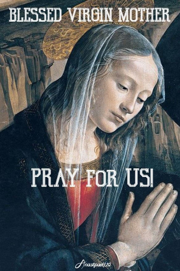 blessed virgin mother pray for us 26 may 2020
