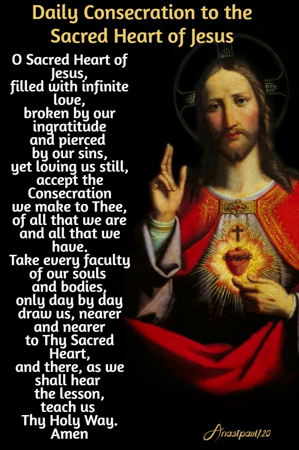 daily consecration to the sacred heart new size 1 june 2020