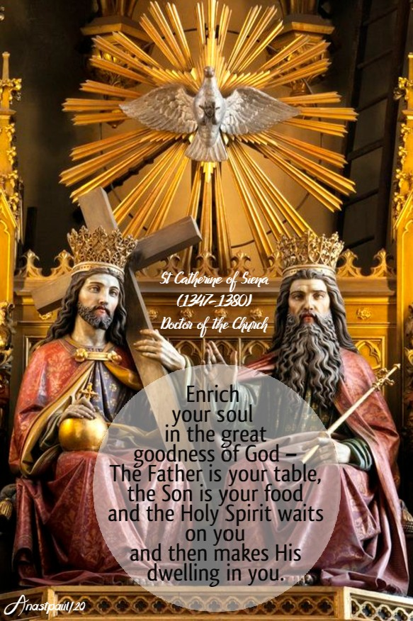 enrich your soul - st catherine of siena 31 may 2020 pentecost