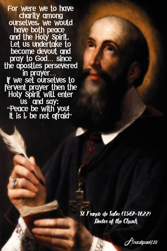 for were we to have charity - st francis de sales no 2 12 may 2020