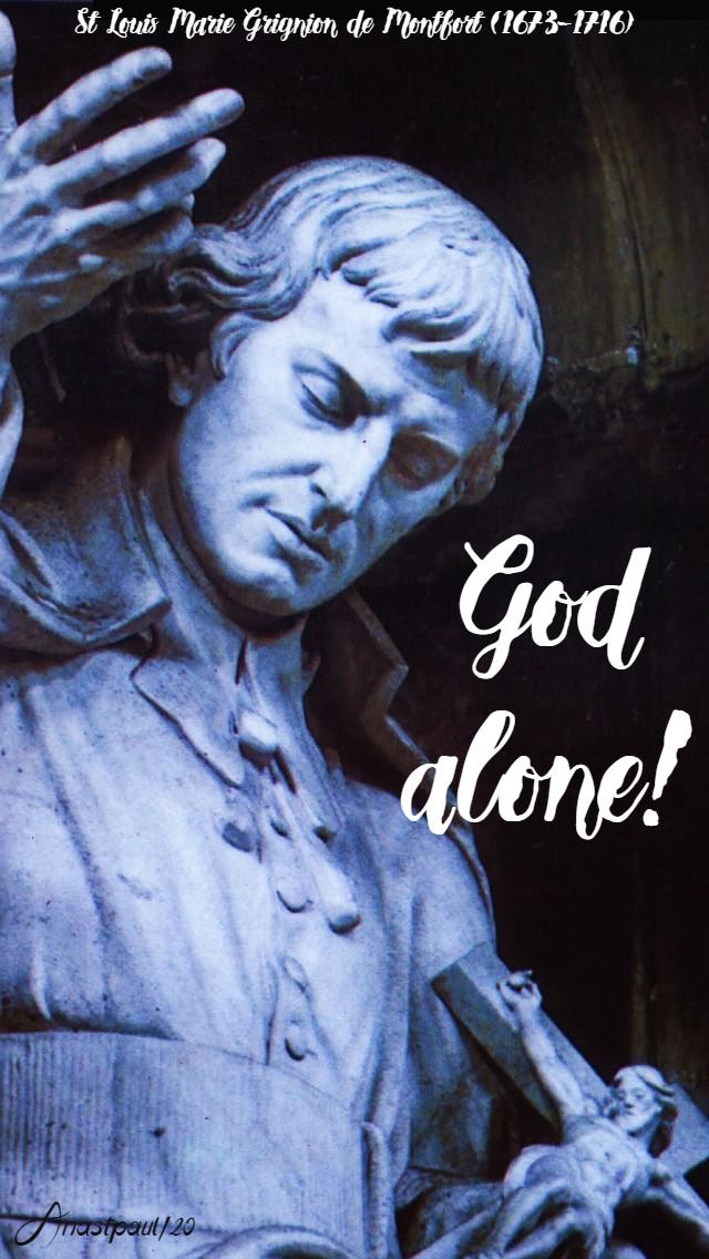 GOD ALONE - st louis de montfort 28 april 2020