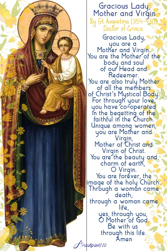 gracious lady mother and virgin - st augustine 12 may 2020