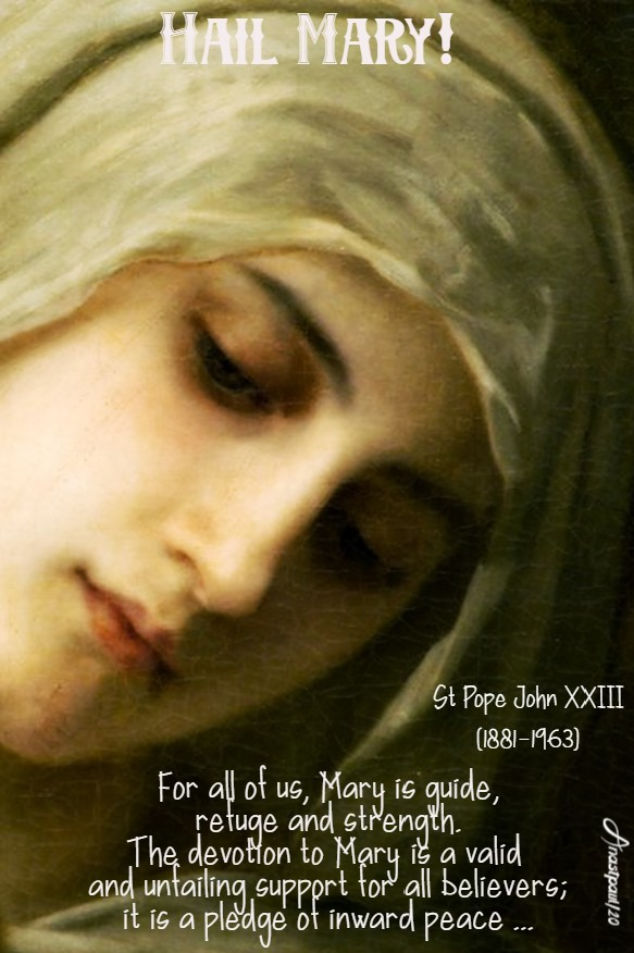 hail mary - st john XXIII - 20 may 2020