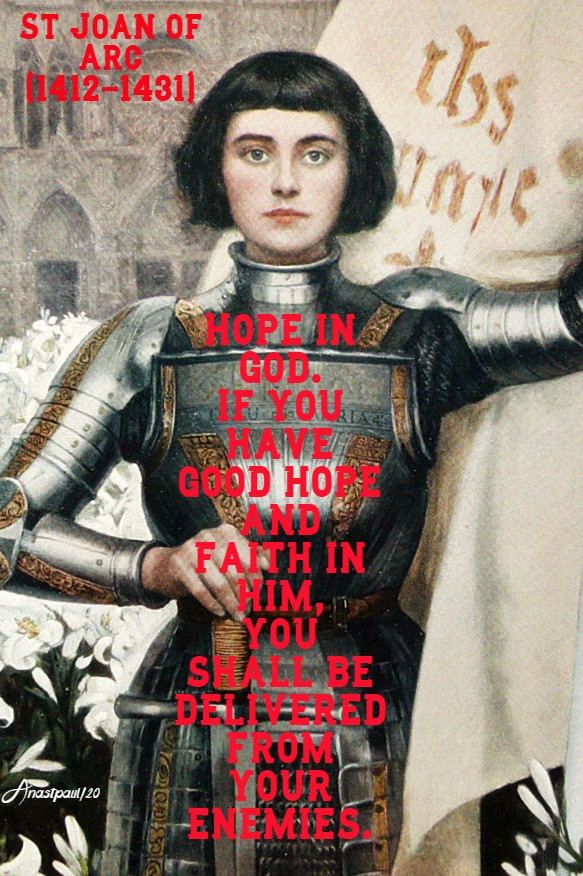 hope in god - st joan of arc 30may 2020