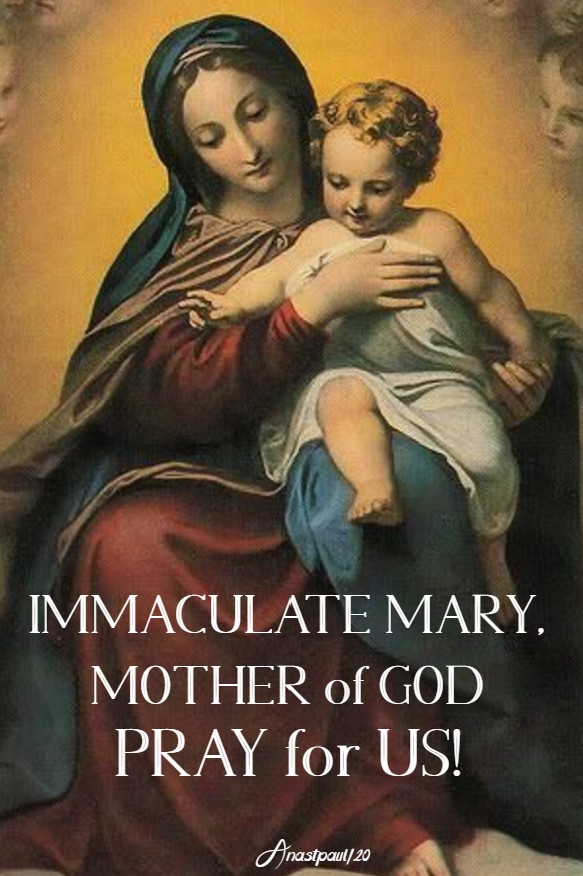 IMM MARY MOTHER OF GOD PRAY FOR US 7 MAY 2020