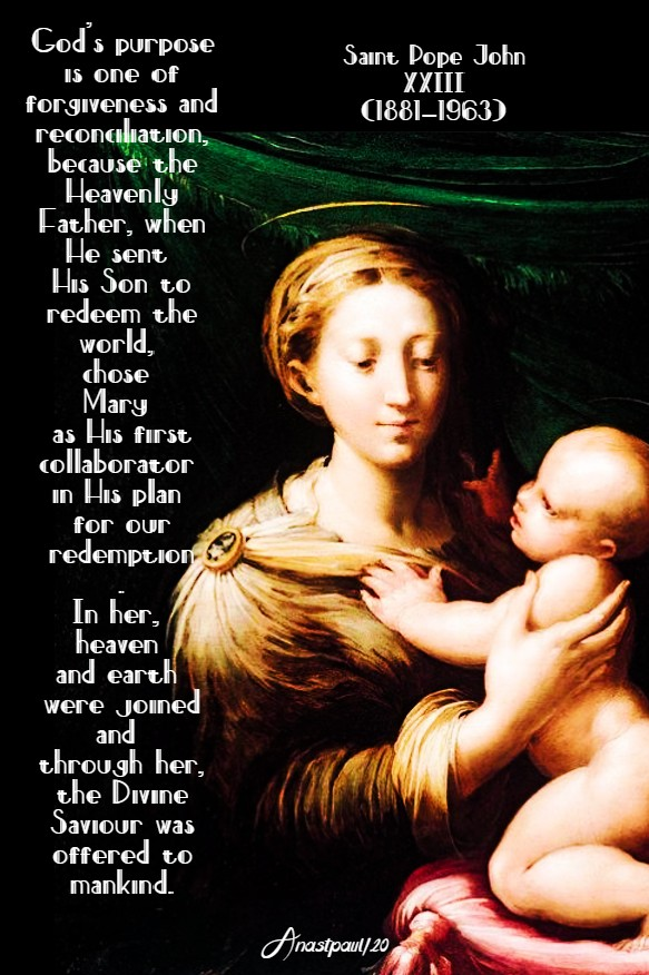 in her heaven and earth were joined - st john XXIII 9 may 2020