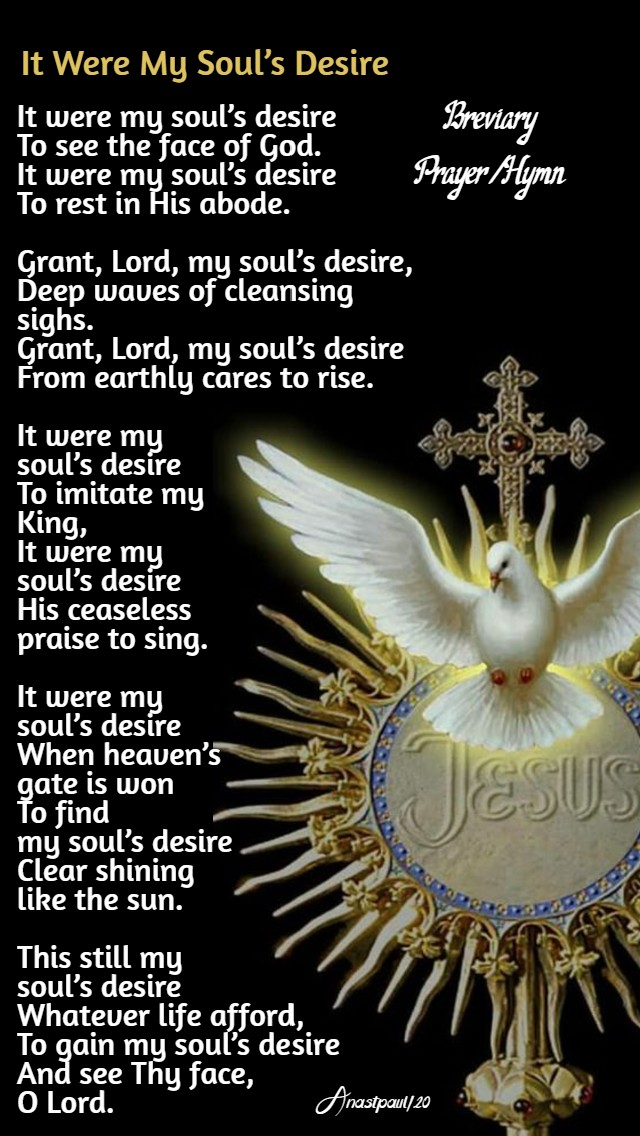 it were my souls desire - 17 may 2020 6th sun easter act of spiritual communion