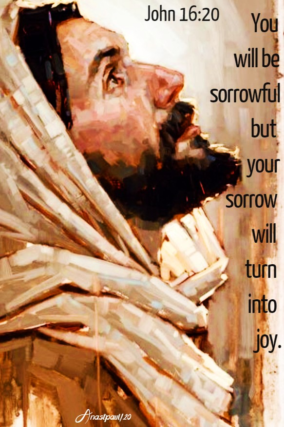 john 16 20 you will be sorrowful but your sorrow will turn into joy 22 may 2020
