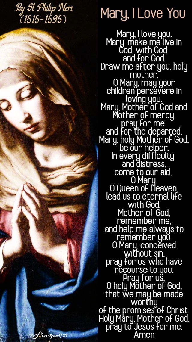 mary i love you by st philip neri 26 may 2020