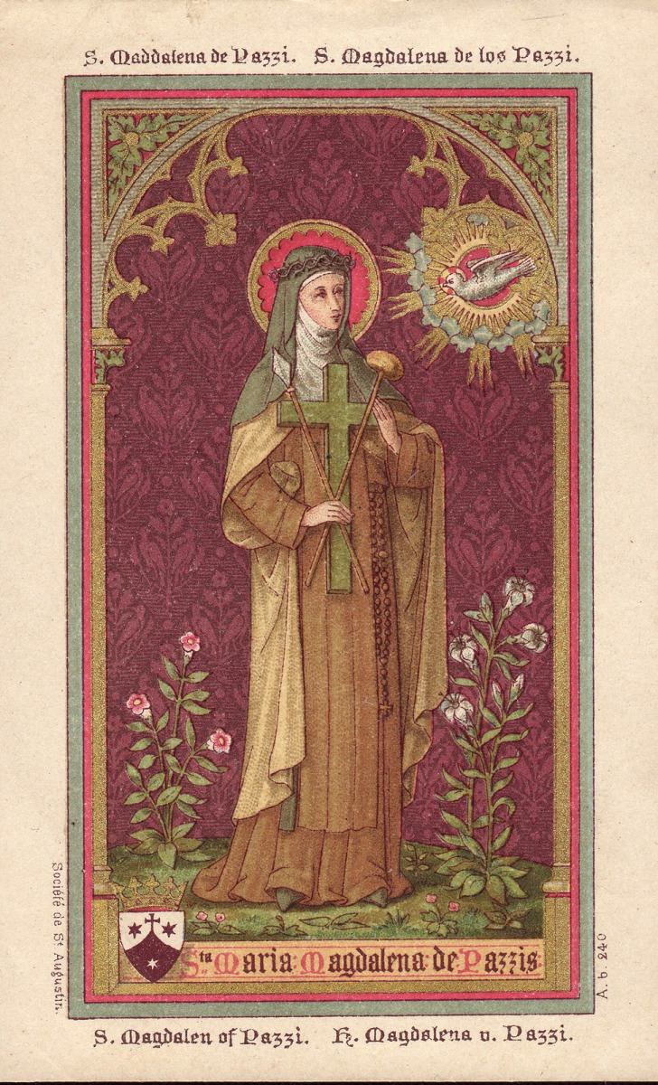 mary-magdelene-de-pazzi holy card