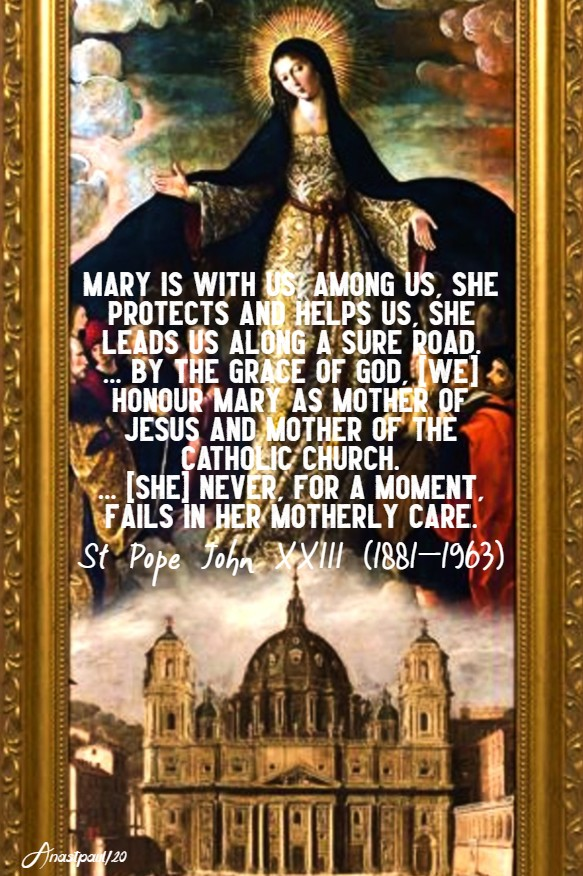mary other of the church st john XXIII 19 may 2020
