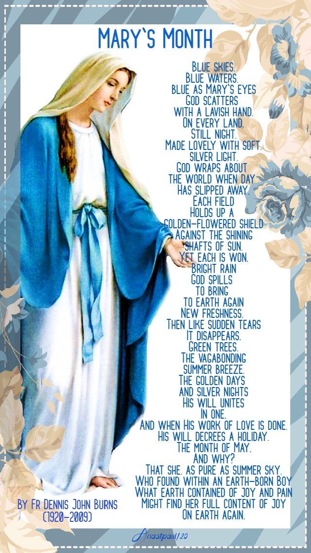 mary's month by fr dennis burns 1 may 2020