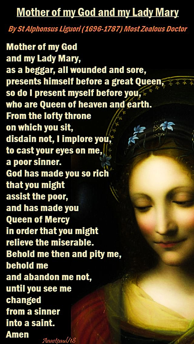 mother of my god and my lady mary - st alphonsus - 19 may 2018 REDONE FOR 23 MAY 2020