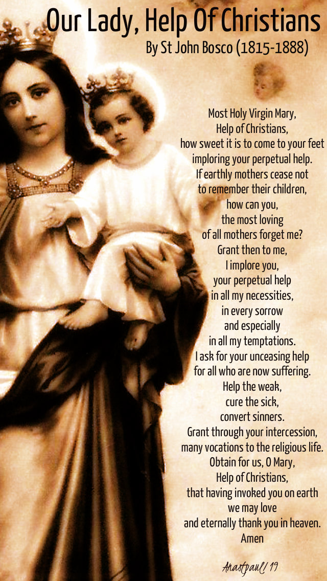 our lady help of christians by st john bosco 24 may 2019