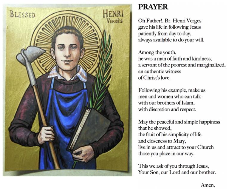 prayer for bl henri