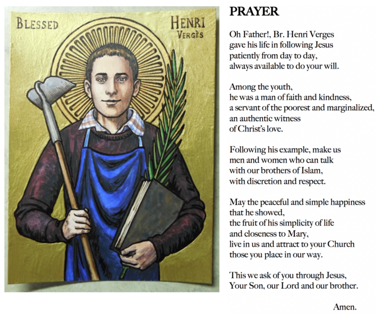 prayer for bl henri