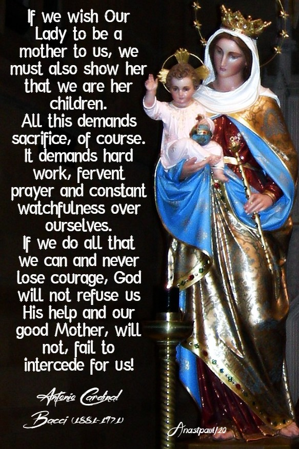 prayer to our lady - bacci 22 may 2020
