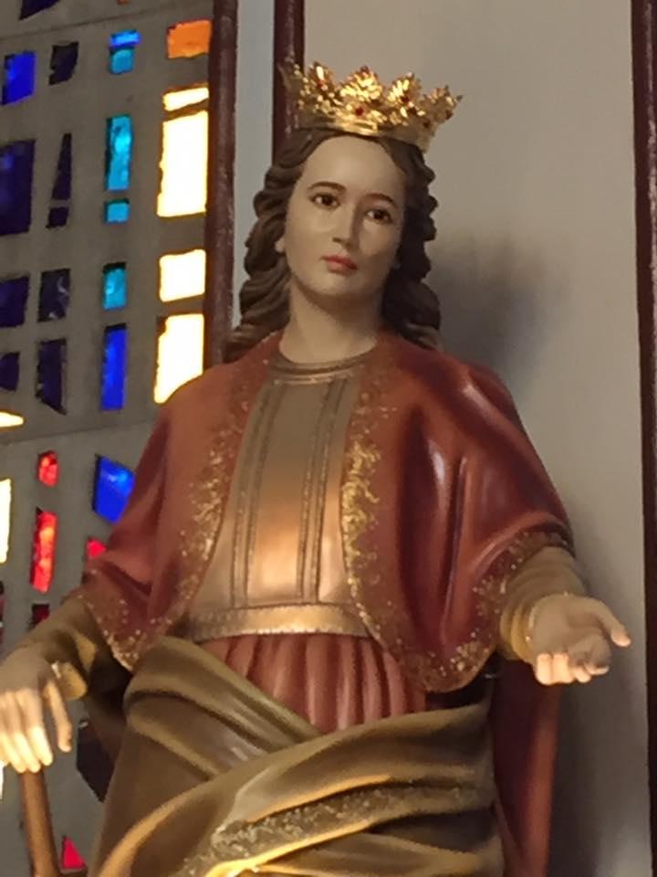 st dymphna statue close up nat shrine