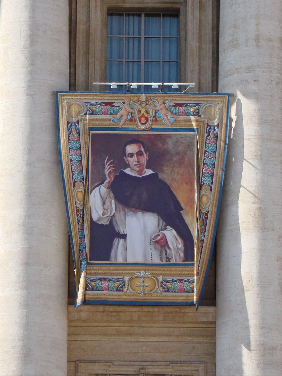 st francisco coll canonisation banner