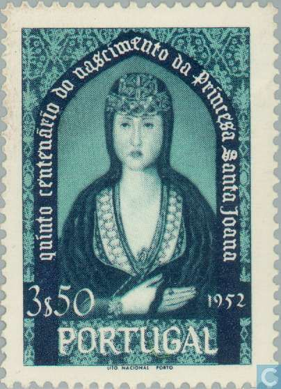 st joanna of portugal stamp