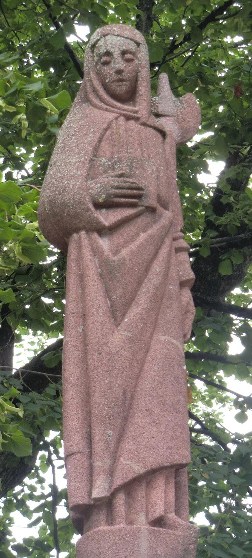 st wilborada Josef Büsser Statue, 1926, vor der Kirche St. Mangen