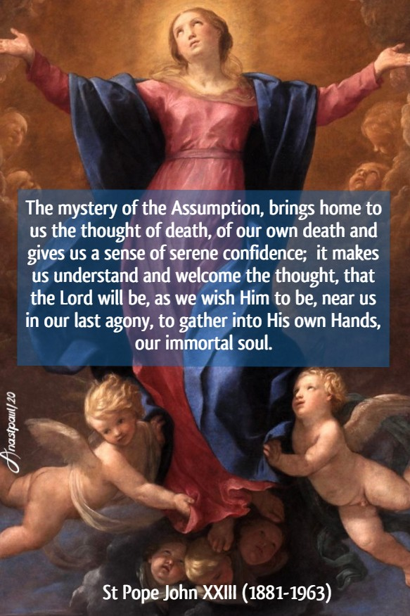 the mystery of the assumption St John XXIII 28 may 2020